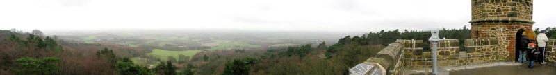 Panoramic view from Leith Hill