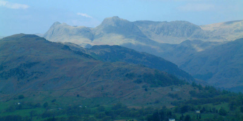 Langdale Pikes from Black Fell