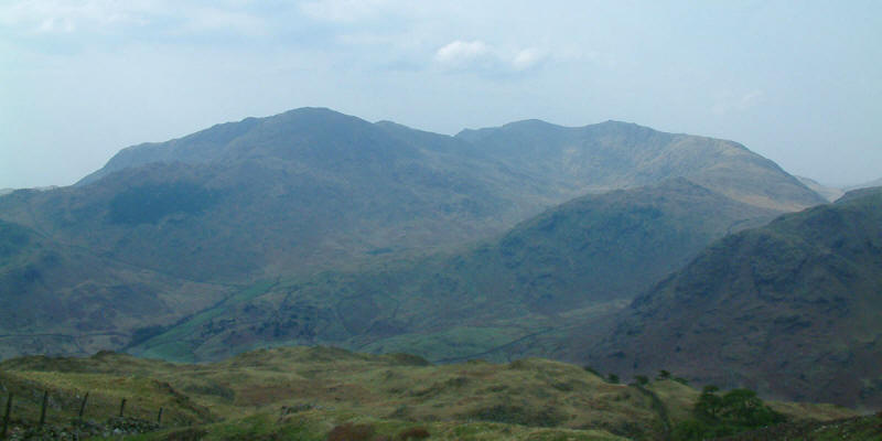 Wetherlam, Swirl How and The Carrs from Lingmoor Fell
