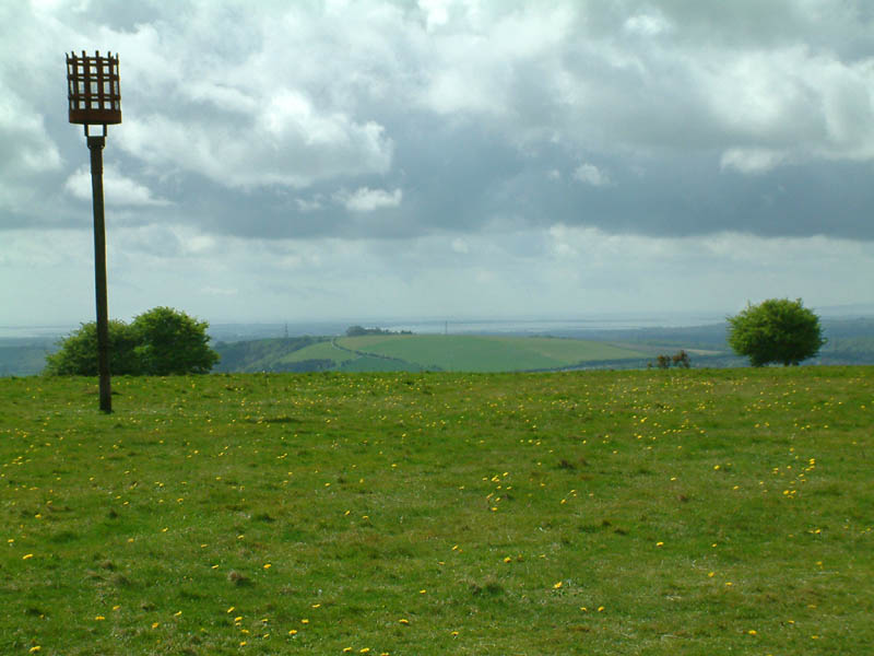 View from Butser Hill to Portsmouth