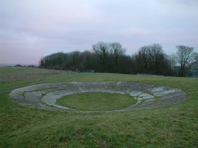 dewpond on Cliffe Hill near Lewes