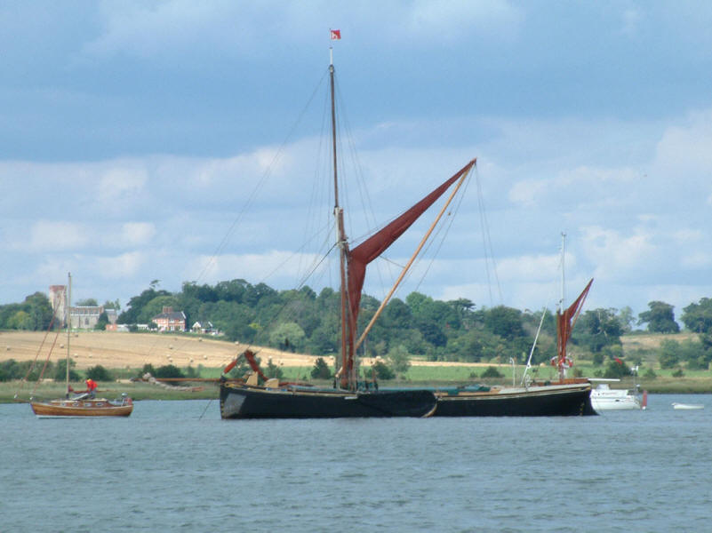 Thames barge on River Stour