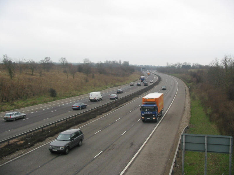 M11 motorway near Chigwell on London Loop