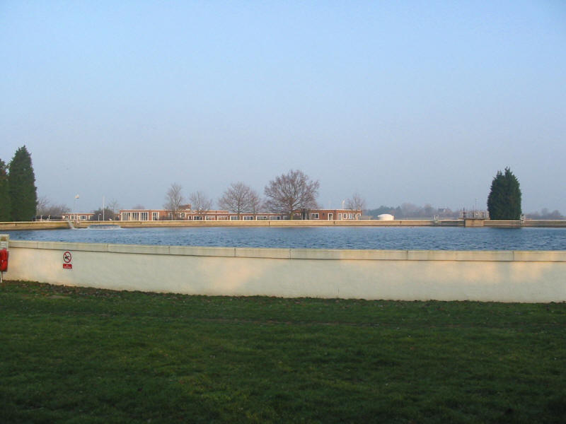 reservoir at Chigwell Row waterworks