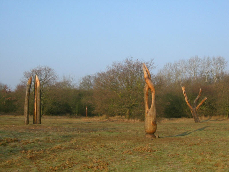 Modern art in Hainault Forest Country Park