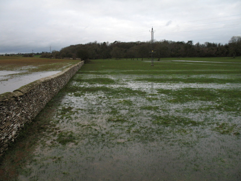 Flooded fields near Thames Head