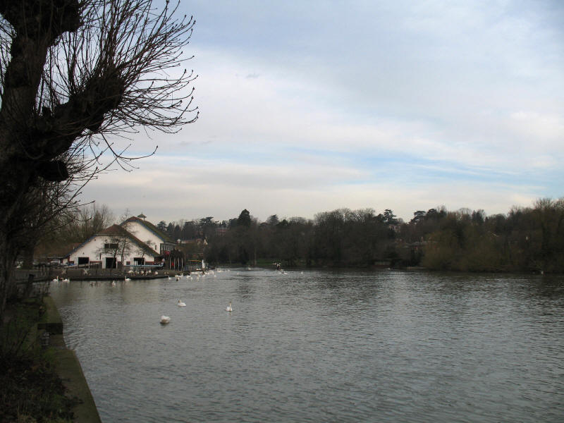 River Thames above Caversham Bridge, Reading