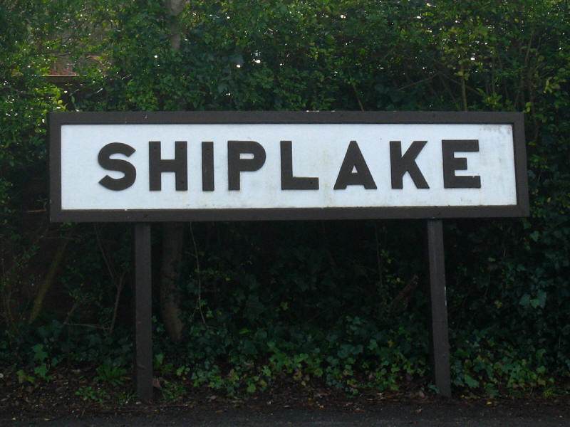 Shiplake railway station sign