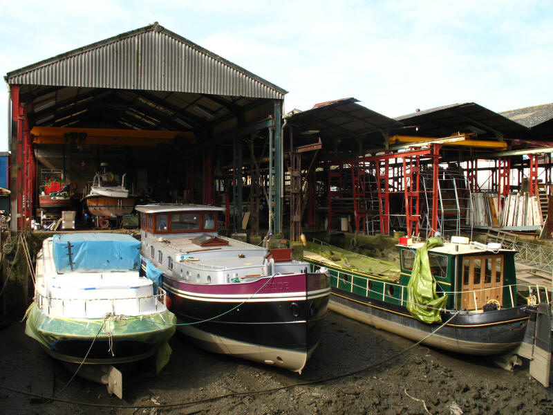 Boatyard by Thames Lock on the Grand Union Canal