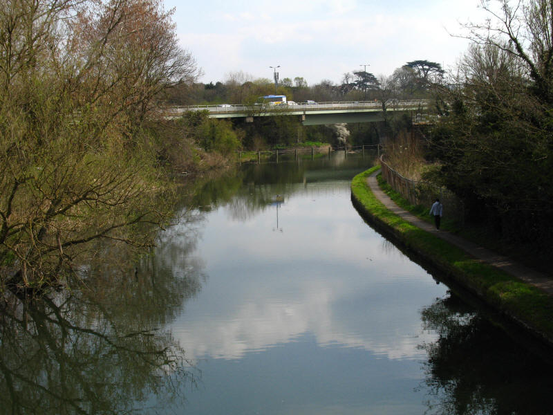 M4 viaduct and Grand Union Canal