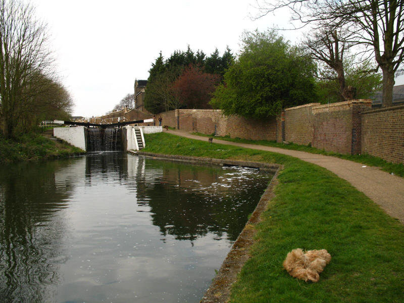 Lock on Grand Union Canal