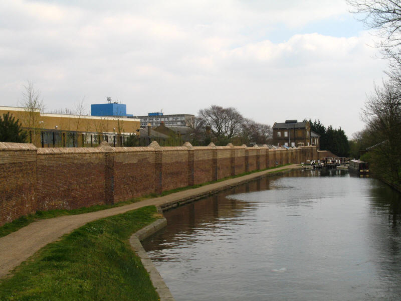 Hanwell Asylum from Grand Union Canal