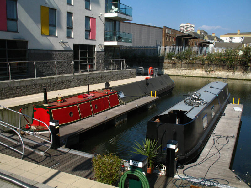 marina on the Limehouse Cut