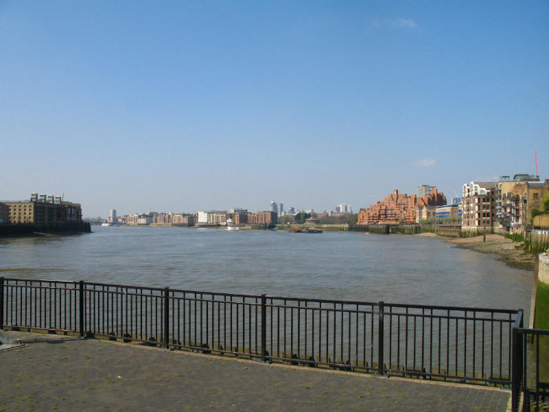 River Thames by the entrance to Limehouse Basin