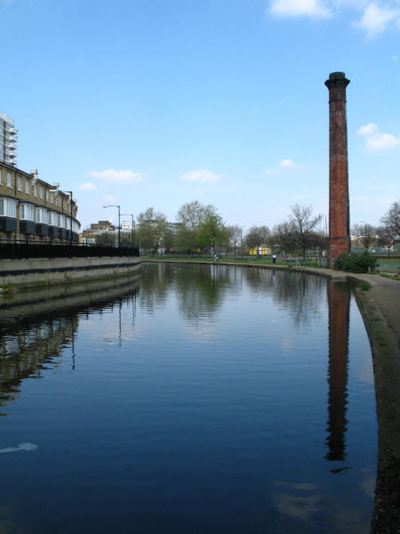 Factory chimney by Regent's Canal
