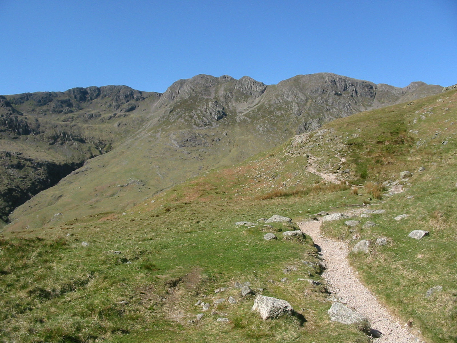 Bowfell And The Rossett Pike Ridge From Great Langdale
