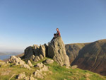 Stephen on the summit of Pikeawassa in the Lake District