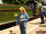 Lucy and Henry with City of Truro on the Cholsey & Wallingford Railway.