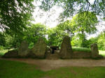 Wayland's Smithy neolithic longbarrow during a walk along the Ridgeway