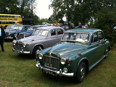 Rover P4s at Bressingham