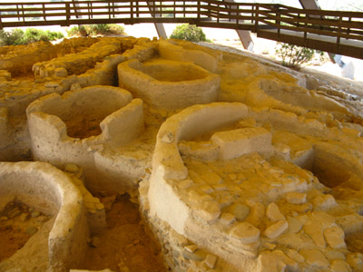 Neolithic houses at Kalavasos-Tenta in Cyprus
