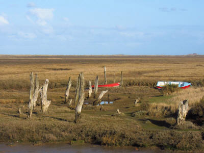 The river at Thornham from the Norfolk Coast Path