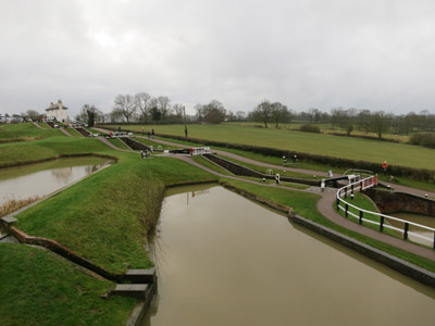The upper staircase at Foxton Locks